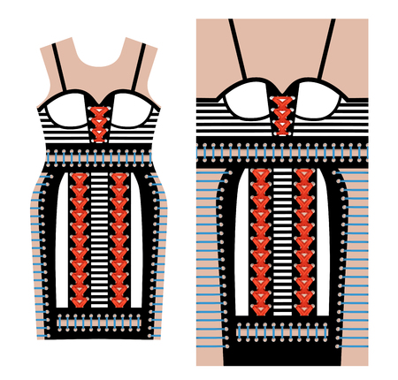 Abstract print for dress