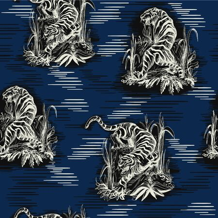 Seamless pattern in chinoiserie style for fabric or interior design Foto de archivo - 128026268