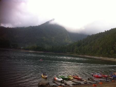 deg: Sarangan Lake morning at Magetan,East Java,Indonesia with 21 deg Celcius Stock Photo