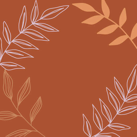 Minimal abstract background in trendy organic and botanical shapes.