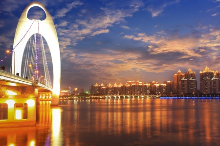 Zhujiang River and modern building of financial district in guangzhou china photo