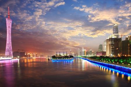 guangzhou: Zhujiang River and modern building of financial district in guangzhou china