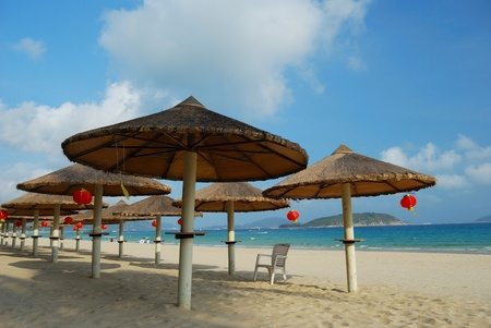Beach scenery, shot in China's Hainan Province, Sanya, Stock Photo - 10642647