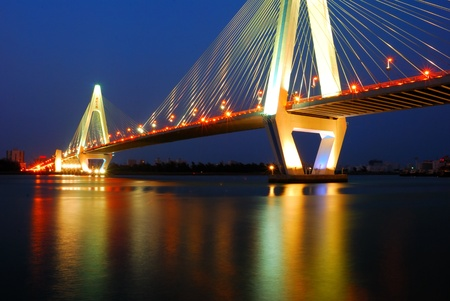 Haikou Century Bridge and the night photo