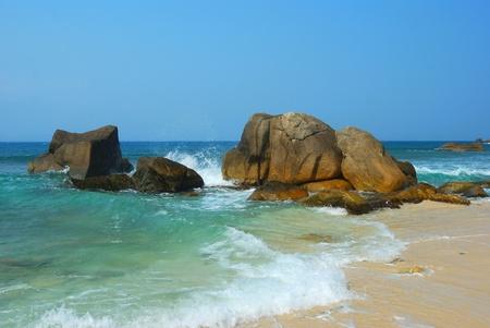 Beach scenery in Sanya of China