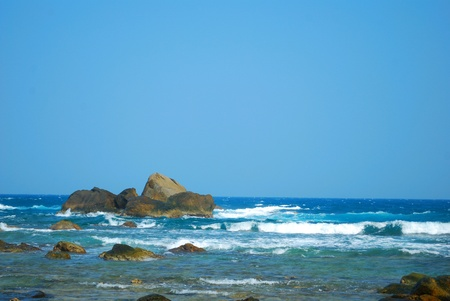 and sanya: Beach scenery in Sanya of China