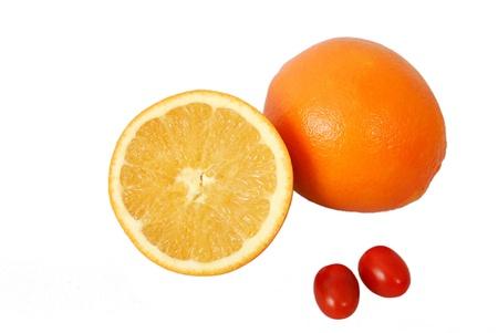 orange isolated on a white background Stock Photo - 10841009