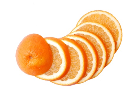 Vitamin-rich orange and cut into sheet photo