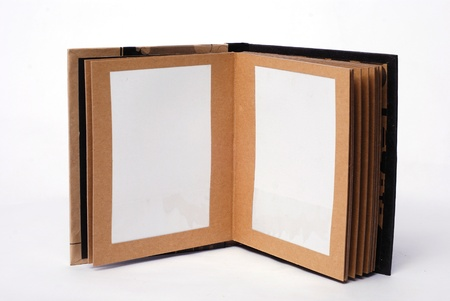 Old picture album. In it usually store family photos Stock Photo - 11113395