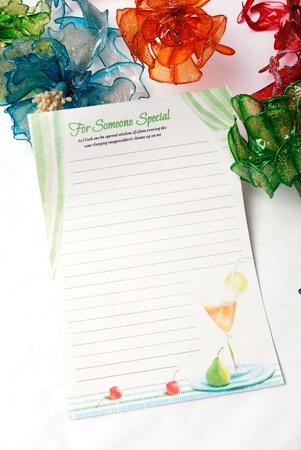 In the context of a colorful stationery Stock Photo - 11113328