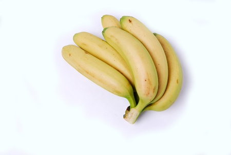 more mature: Banana isolated on a white background