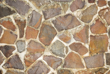Stone wall close-up texture background photo