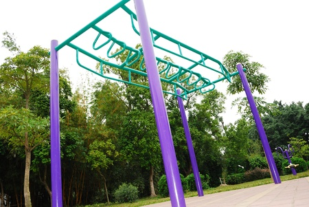 Fitness equipment in the park Stock Photo - 11290718