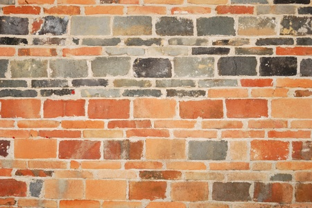 terra: Backgrounds from old, ruin bricks made of terra cotta Stock Photo