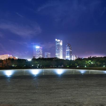 China city of Shenzhen at night photo