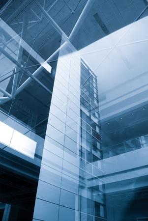 urban centers: Close-up of office buildings now