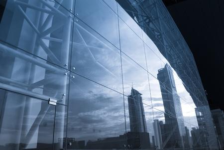 edificio cristal: Primer plano de los edificios de oficinas ahora