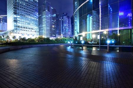 buildings city: night scene of shenzhen special economic zone,China