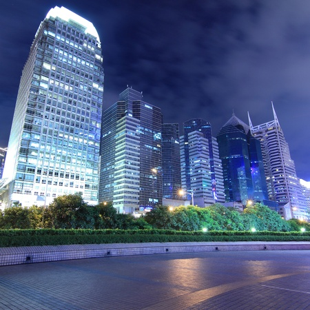 guangdong: night scene of shenzhen special economic zone,China