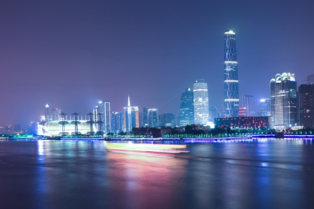 Zhujiang River and modern building of financial district in guangzhou china photo