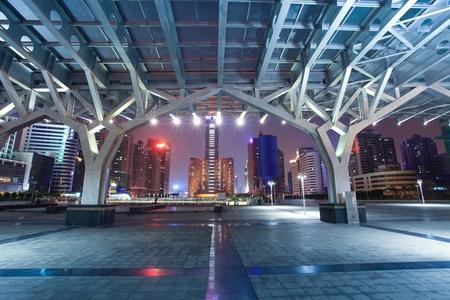 guangzhou: night scene of guangzhou special economic zone,China Stock Photo