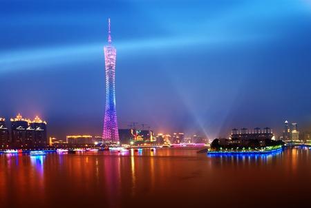 guangzhou: The host city for the 2010 Asian Games in Guangzhou, Chinas night Stock Photo