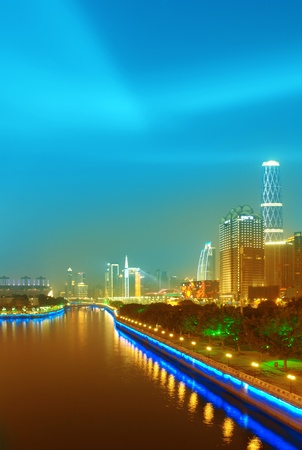 The host city for the 2010 Asian Games in Guangzhou, Chinas night photo