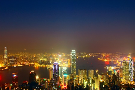 Hong Kong skyline at night Stock Photo - 12205568