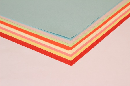 consumables: Colored paper arranged in beautiful patterns