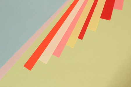 Colored paper arranged in beautiful patterns photo