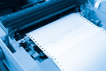 typer: Printing and dot matrix printer in the bill Stock Photo