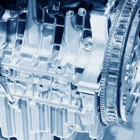 Complex engine of modern car with lots of details Stock Photo - 12222512