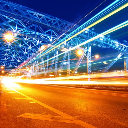 guangzhou: guangzhou Bridge Traffic at night