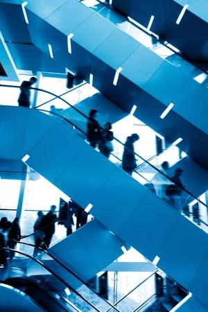 Escalators in office buildings photo