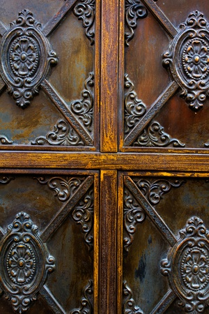 detail of rustic door photo