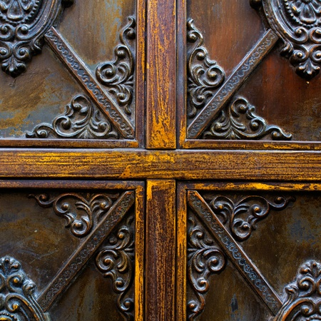 detail of rustic door Stock Photo - 13509531