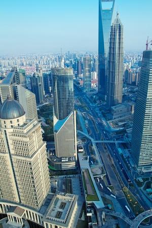 •China Shanghai the huangpu river and Pudong skyline at sunset. Reklamní fotografie