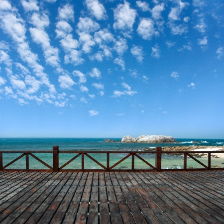 balcony and the  sea in china Stock Photo - 13726871