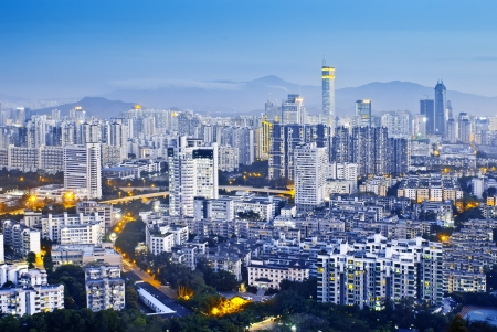 guangdong: Chinas Shenzhen city in the night