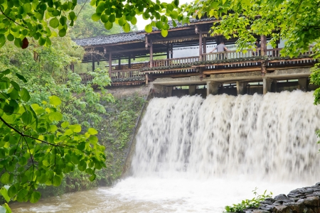 Small waterfall in guilin,china photo