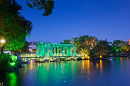 Glass bridge in guilin nightscape Stock Photo - 13756483