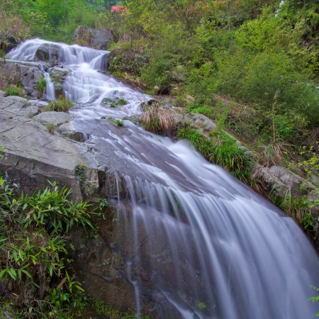 Deep forest Waterfall in china,guilin Stock Photo - 13756513