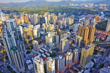 bird view: Bird view at city of shenzhen China