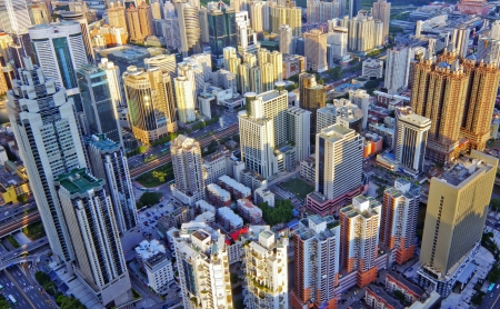 Bird view at city of shenzhen China Stock Photo - 13817348