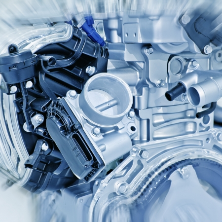 Part of a car engine photo