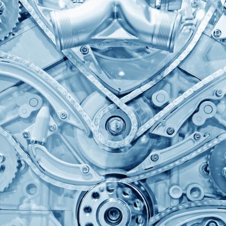industrial mechanics: Coche parte del motor - Cierre de la imagen de un motor de combusti�n interna