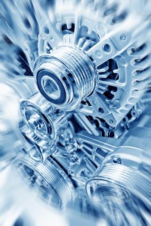 Coche parte del motor - Cierre de la imagen de un motor de combustión interna