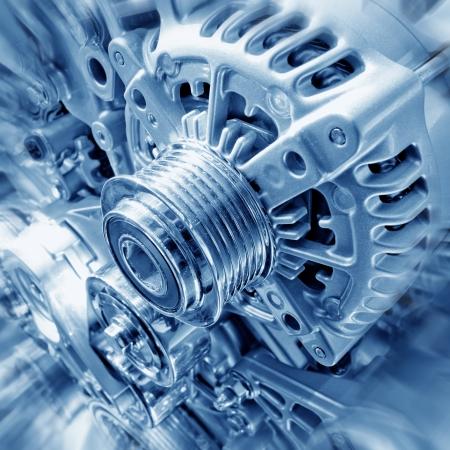 mecanico automotriz: Coche parte del motor - Cierre de la imagen de un motor de combusti�n interna