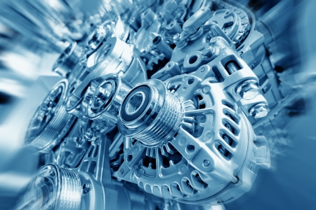 Car engine part - Close up image of an internal combustion engine Stock Photo - 14103154