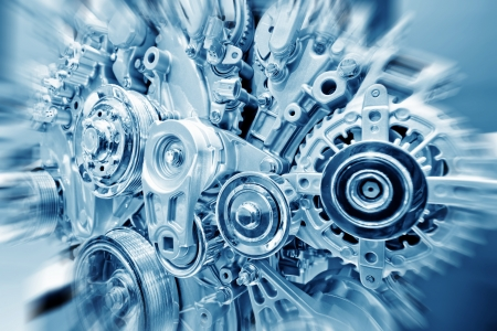 Car engine part - Close up image of an internal combustion engine Stock Photo - 14114587